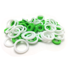 Custom Size Milky White 100%Virgin Food Grade Silicone Heat Resistant Rubber Flat O Ring Gasket