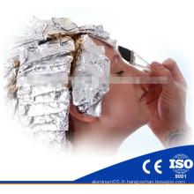 Rouleau en aluminium pour feuille de salon de coiffure