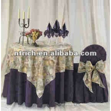 Jacquard Chair Covers and table cloth or wedding