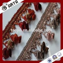 Stock Hangzhou Taojin Blume Quaste Trimm Fransen für Vorhang Zubehör