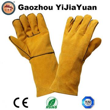 Ce En12477 Proteção de couro Luva de soldagem de mão de segurança com fio de Kevlar