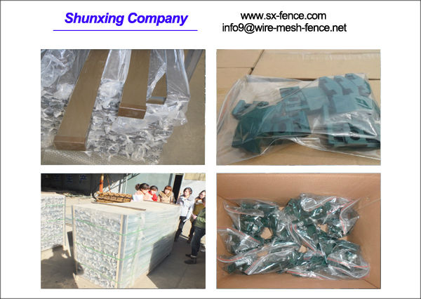 Packing of wire mesh fence post