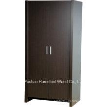 Robusto y duradero dormitorio de madera 2 armarios armario puerta (wb78)