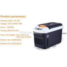 HF-22L (110) DC 12 V / AC 220 V 55 Watt auto-kühlwagen auto kühler kühlbox mini tragbare auto kühlschrank (CE zertifikat)