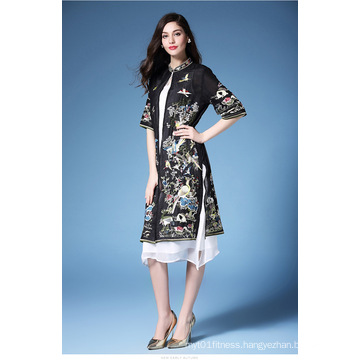 New Chinese Style Cheongsam for Ladies Bodycon Sexy Mini Party High Neck Dress