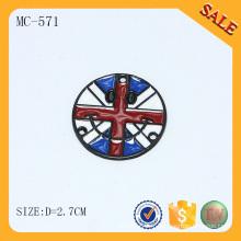 MC571 Étiquette de logo de marque émaillée ronde