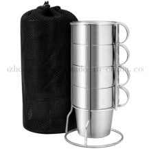 OEM Hot Sale Double Wall Stainless Steel Cup Mug Set