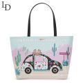 Large capacity printing waterproof women bag handbag lady tote bag