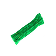 Hot sale 6mm*30cm colorful Twist Wire Pipe Cleaner DIY  Chenille stem for Kids Crafts