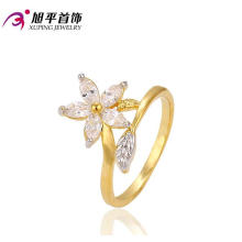 Good Selling Multicolor Plated Charms Vintage Ring with Flower Shaped