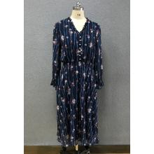 robe longue en mousseline de soie pour femme