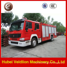 HOWO Brand Fire Truck with 8m3 Water Tank