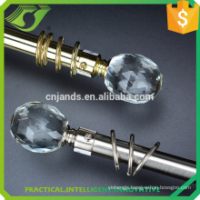JNS crystal glass finials for curtain rods