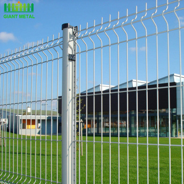 PE+coated+welded+mesh+3D+fence+for+sale