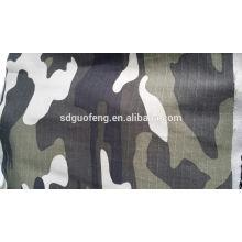 Tissu ripstop T / C 65/35 240gsm 5mmx5mm, tissu camouflage bleu
