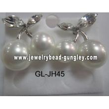 Aretes de perla de la cáscara de regalo para mujer