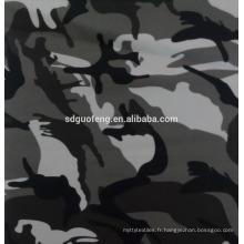 Super qualité cvc50 / 50 32/2 * 16 110 * 52 57/58 Impression tissus de teinture pour vêtements militaires et Ultra-bas prix