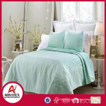 2018 new design factory direct sale sitiching solid color home bed comforter set from China