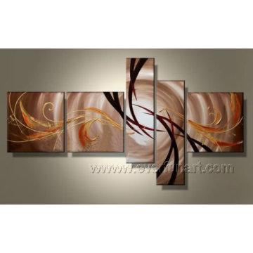 Pintura al óleo abstracta hecha a mano del arte moderno en lona (XD5-049)
