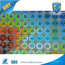 Kundenspezifischer holographischer Druck 3d Hologrammaufkleber