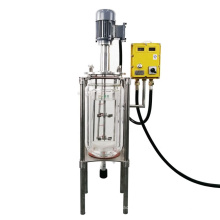 Low price1L 2L 5L 10L three layer glass Ozone filter reaction kettle for lab
