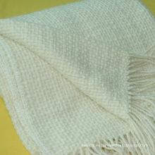 Manta suave 50% lana 50% acrílico sofá
