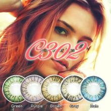 Tri цветные контактные линзы, контактные линзы большие глаза, оптовая сумасшедший контактные линзы