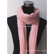 Fashion yarn dye cotton long scarf