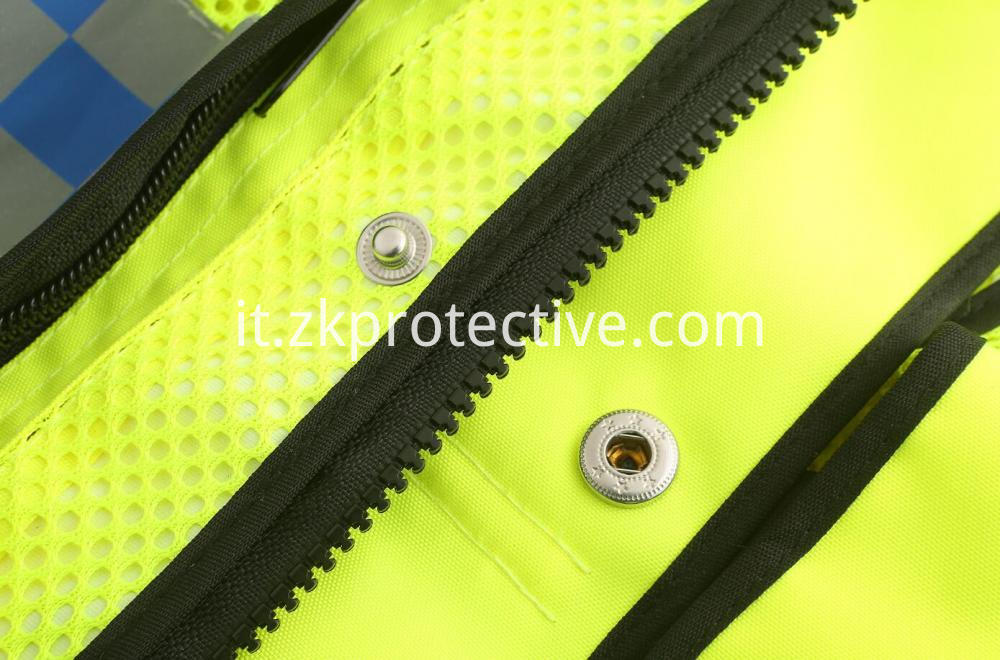 Safety Jacket Zipper