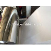 Lamelle en aluminium souple pour récipient alimentaire