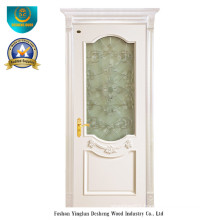Simplified European Style Solid Wood Door for Interior with Glass (DS-127)
