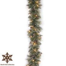 9 FT. Trucs à gros glaçons Garland de Noël avec 50 lumières LED (MY205.447.00)