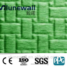 Alunewall embossed aluminum composite panel 3mm 4mm 5mm acp sheet price