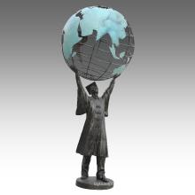 Large Figure Statue Earth Doctor Bronze Sculpture Tpls-073