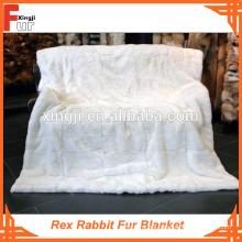 Manta de piel, manto real de piel de conejo Rex