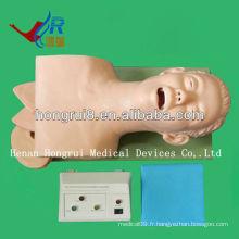 Simulation électrique d'intubation de la trachéa (mannequins médicaux)