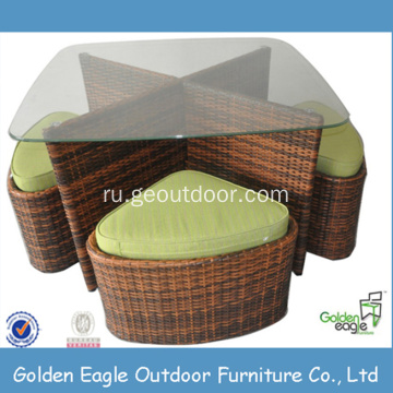 Outdoor Furniture Rattan Table and Chair Set