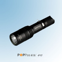 Portable 400lumens CREE Xm-L U2 plus lumineuse lampe de poche tactile LED (POPPAS-F17)