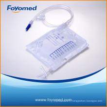 Plus récent sac de drainage urinaire de luxe de 2000 ml avec CE, certification ISO