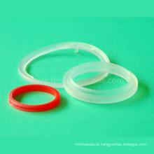 Selo de borracha de silicone transparente de grau médico
