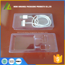 Disposable plastic tray for electronic parts