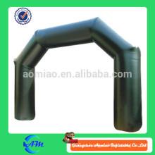 Hermoso arco de publicidad inflable de color negro, arco inflable barato, arcos inflables
