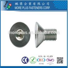 Fabriqué en Taiwan DIN7991 M6X20 Vis à tête fraisée en acier inoxydable