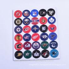 custom popular rugby team flag design mini die cut round EVA rubber fridge magnet stickers