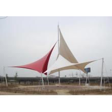 Car Parking Tensile Fabric PTFE Architectural Membrane