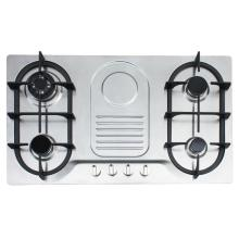 4 Burner Gas Hob na may Ignition Pulse