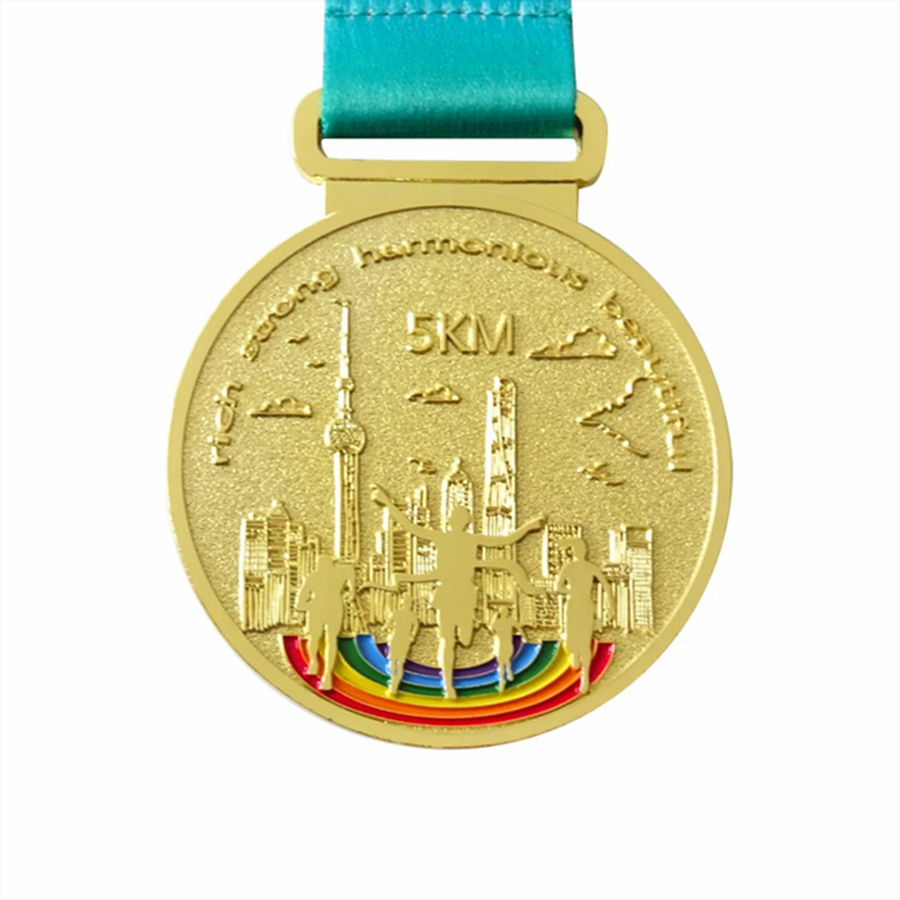 Metal Running Gold Medal