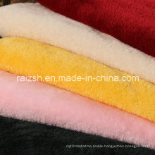Polyester Weft Dyeing Beiji Velvet Fabric for Clothes / Toys