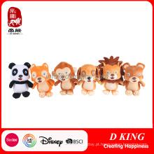 Brinquedo ajustado do animal feito sob encomenda dos desenhos animados para a promoção macia do brinquedo das crianças