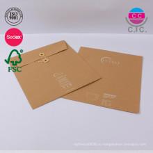 заказ набор из 2 коричневый крафт бумажный мешок Китай для файла